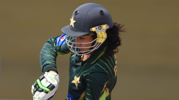 Bismah Maroof goes on the attack during her 92