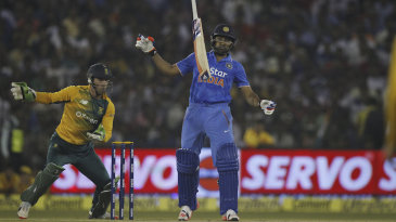 Rohit Sharma is surprised by some extra bounce