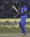 Ambati Rayudu was left bemused after missing a full toss, India v South Africa, 2nd T20I, Cuttack, October 5, 2015