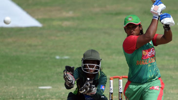 Ayasha Rahman top-scored for Bangladesh with a 56-ball 39