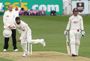 Monty Panesar bowls for Essex, Surrey v Essex, County Championship Division Two, The Oval, 1st day, April 26, 2015
