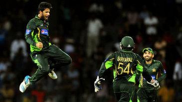 Imad Wasim celebrates a wicket