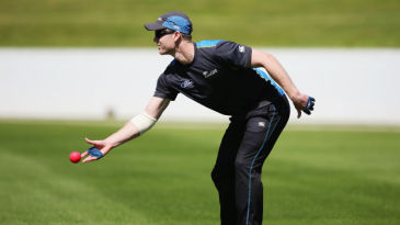 James Neesham during a pink-ball fielding session