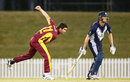 Ben Cutting delivers the ball, Victoria v Queensland, Matador Cup 2015-16, Sydney, October 9, 2015