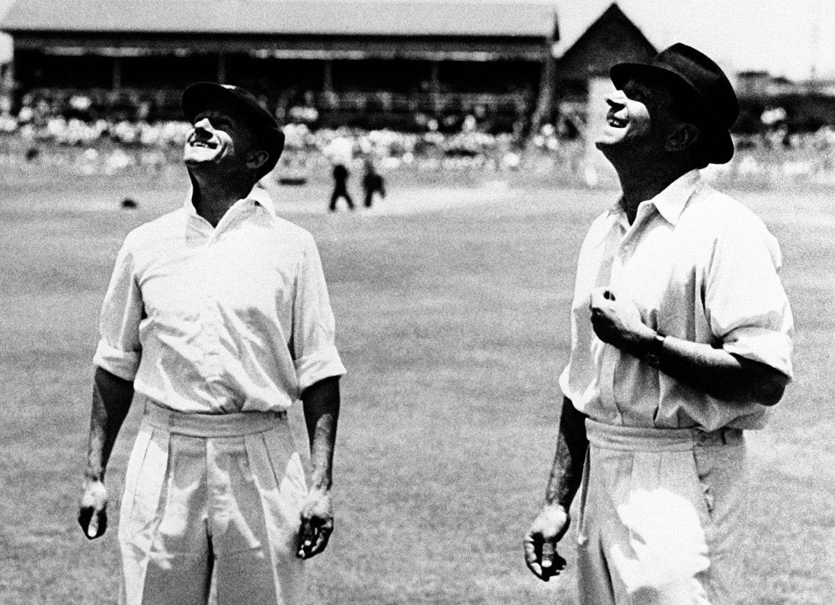 Don Bradman and Wally Hammond at the toss