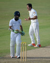 Moeen Ali fell to Mir Hamza in his second knock, Pakistan A v England XI, Sharjah, Tour match, 2nd day, October 9, 2015