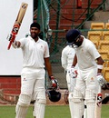 Shishir Bhavane scored his maiden first-class century, Karnataka v Bengal, Ranji Trophy, Group A, 3rd day, Bangalore