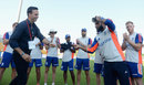 Adil Rashid receives his cap from Michael Vaughan, Pakistan v England, 1st Test, Abu Dhabi, 1st day, October 13, 2015