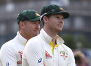 Steven Smith and Michael Clarke at the presentation, England v Australia, 5th Investec Ashes Test, The Oval, 4th day, August 23, 2015