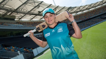 Ashleigh Barty in the Brisbane Heat uniform