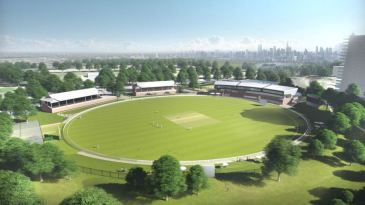 An artist's impression of how the redeveloped Junction Oval will look