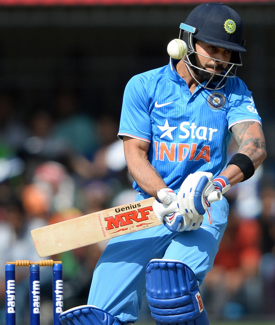 Virat Kohli sways out of the line of a delivery | Photo | India v ...