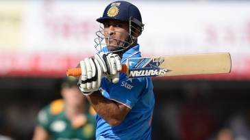 MS Dhoni targets the leg side