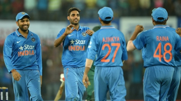 Bhuvneshwar Kumar picked up three wickets