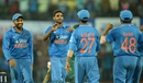 Bhuvneshwar Kumar picked up three wickets, India v South Africa, 2nd ODI, Indore, October 14, 2015