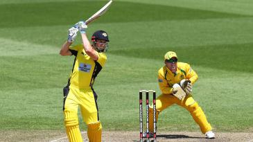Shaun Marsh hits through the off side during his 186