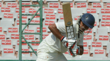 Priyank Kirit Panchal struck 15 fours for his 105