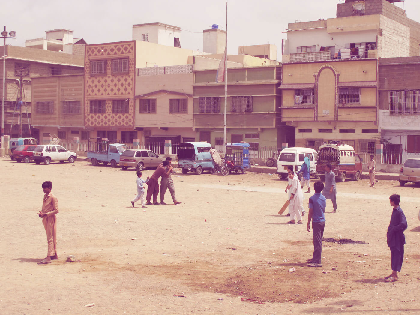 Cars beware: Paposh Nagar was one of the city's earliest nurseries for street cricket