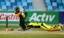 Clyde Fortuin runs out Ben McDermott, Australia v South Africa, semi-final, Under-19 World Cup, Dubai, February 26, 2014