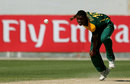 Ngazibini Sigwili bowls, South Africa Under-19s v West Indies Under-19s, ICC Under-19 World Cup, Dubai, February 14, 2014