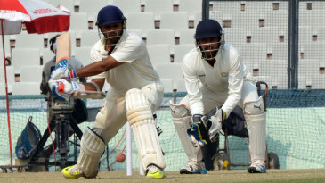Parthiv Patel winds up for a big hit on his way to a century