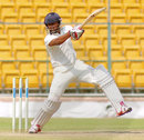 Ganesh Satish sends one rocketing through the off side, Karnataka v Vidarbha, Ranji Trophy 2015-16, Group A, 2nd day, Bangalore, October 16, 2015