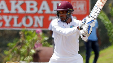 Denesh Ramdin cuts on the off side