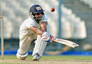 Manoj Tiwary reaches out for the sweep, Bengal v Rajasthan, Ranji Trophy 2015-16, Group A, 3rd day, Kolkata, October 17, 2015