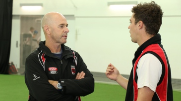 Jamie Siddons in his new role as South Australia coach