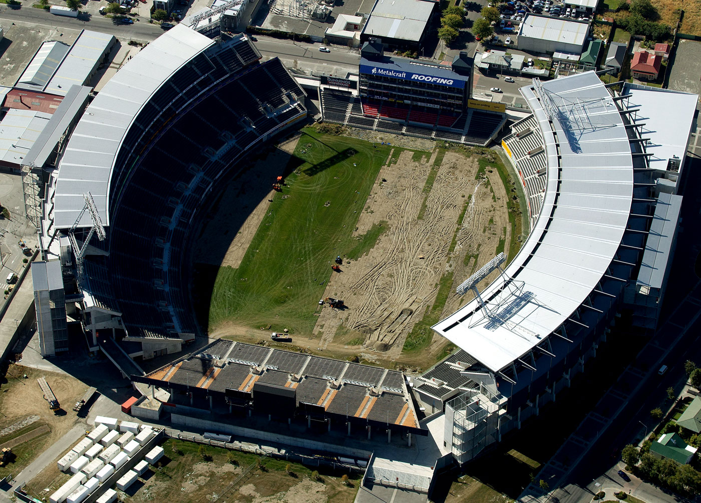 Lancaster Park, hit hard by the earthquake, wasn't all that viable for cricket even before the damage