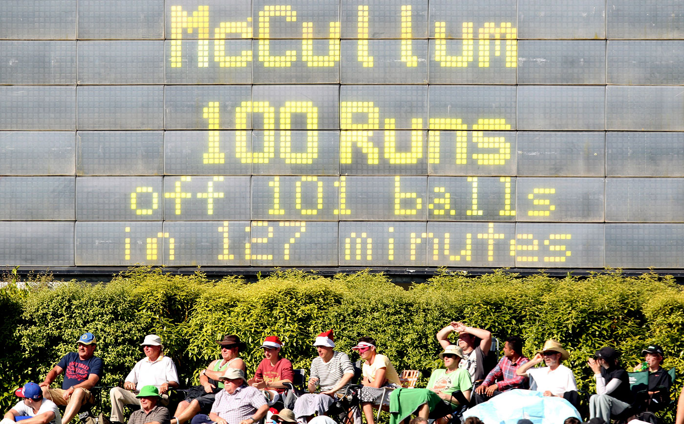 Quick fix: last year McCullum broke the New Zealand record for the fastest Test hundred twice in a month