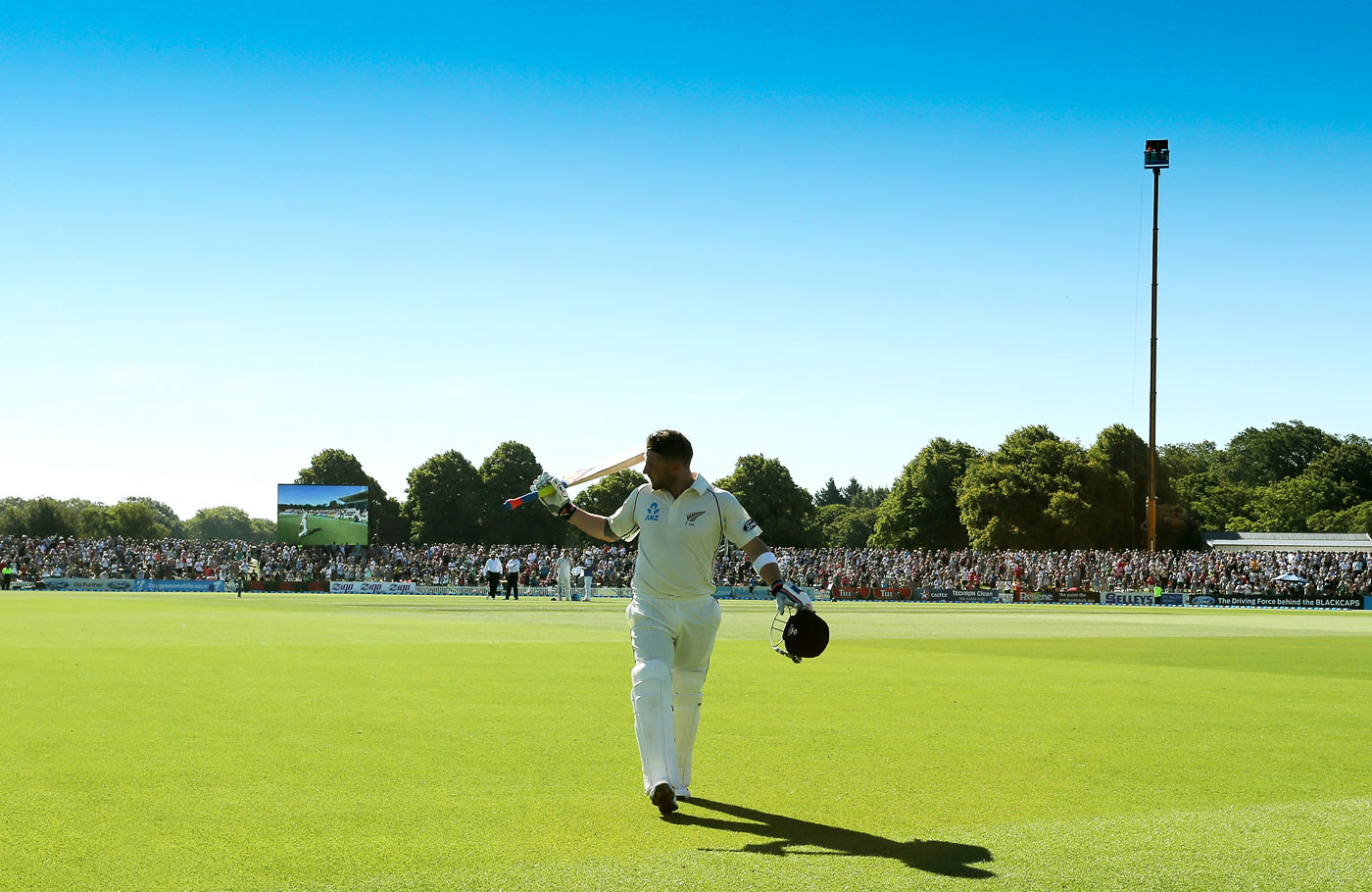 2014: Christchurch's first Test in eight years was a joyful celebration, largely owing to McCullum's brand of cricket