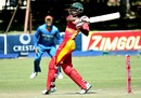 Richmond Mutumbami targets the leg side, Zimbabwe v Afghanistan, 3rd ODI, Bulawayo, October 20, 2015