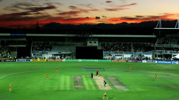 A general view of the field during the Napier ODI