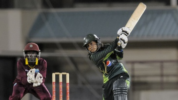 Javeria Khan plays an attacking shot