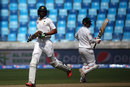 Shan Masood and Mohammad Hafeez put on a 51-run opening stand, Pakistan v England, 2nd Test, Dubai, 1st day, October 22, 2015