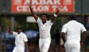Dhammika Prasad struck in his first over, Sri Lanka v West Indies, 2nd Test, Colombo, 1st day, October 22, 2015
