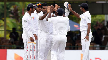 Dhammika Prasad bowled a probing spell on the second morning
