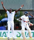 Jerome Taylor thought he had Kaushal Silva but the review suggested otherwise, Sri Lanka v West Indies, 2nd Test, Colombo, 2nd day, October 23, 2015