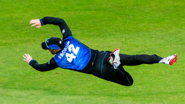 Brendon McCullum dives