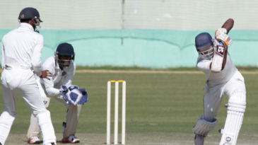 Paras Dogra drives en-route a century against Goaa
