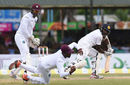 Jermaine Blackwood takes a catch to dismiss Nuwan Pradeep, Sri Lanka v West Indies, 2nd Test, Colombo, 3rd day, October 24, 2015