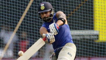 Virat Kohli at a net session in Mumbai on the eve of the final ODI