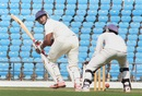 Ganesh Satish works one to fine leg, Vidarbha v Assam, Ranji Trophy 2015-16, Group A, Nagpur, 2nd day, October 23, 2015