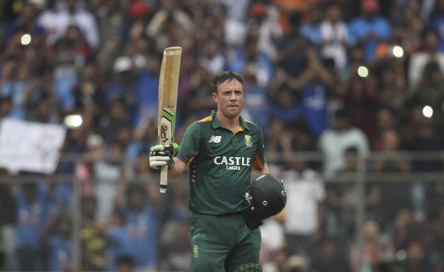 AB de Villiers powered to a 57-ball century | Photo | India v South Africa | ESPNcricinfo.com