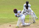 Shai Hope hits the ball on the leg side, Sri Lanka v West Indies, 2nd Test, P Sara Oval, Colombo, 5th day, October 26, 2015