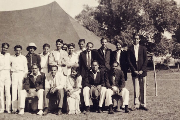 Playing in the less glamorous levels of Indian cricket made Mukherjee (sitting, second from right) more appreciative of what the game had to offer outside of daily life