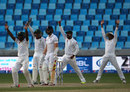There was no shortage of appeals for the wicket of Mark Wood, Pakistan v England, 2nd Test, Dubai, 5th day, October 26, 2015