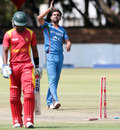 Dawlat Zadran bowled all his three victims, Zimbabwe v Afghanistan, 1st T20I, Bulawayo, October 26, 2015