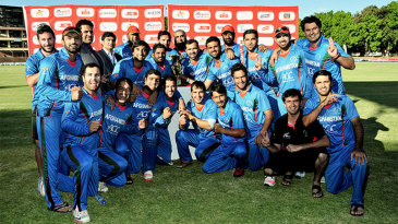 Afghanistan celebrate knocking over Zimbabwe in the T20s